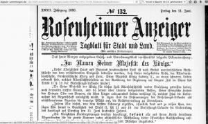 Rosenheimer Anzeiger 5_11.6.1886_Hinweis auf Komplott Prinz Luitpold 2017-02-14 um 10.25.11